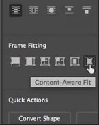 Content Aware fit Adobe InDesign CC 2019