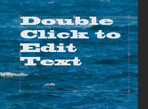 Double Click to edit text adobe photoshop
